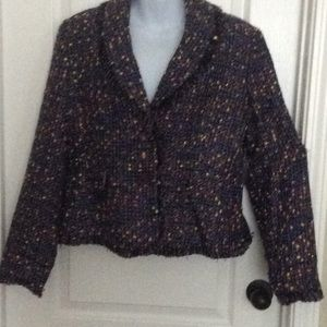 Women's Petite Multi-colored Jacket